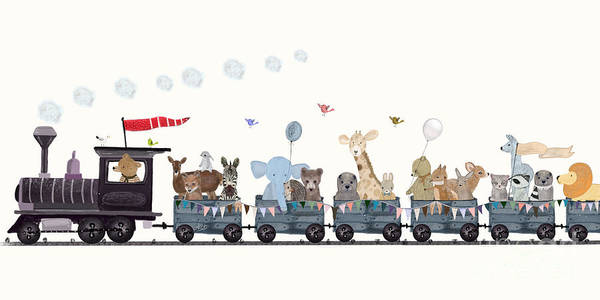 Wall Art - Painting - Big Little Nature Train by Bri Buckley