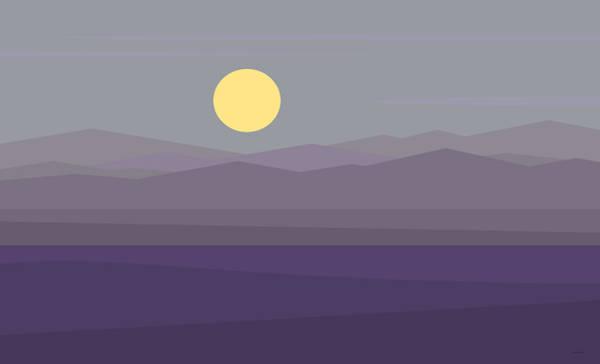Digital Art - Big Moon At Twilight by Val Arie