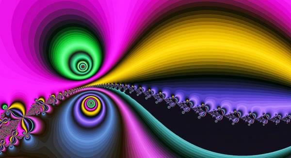 Digital Art - Big Mouth Fractal Pink by Don Northup