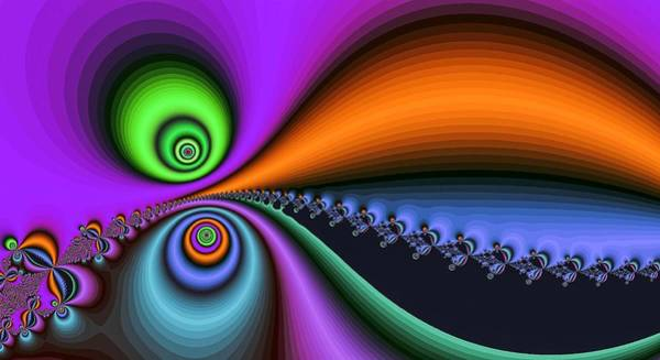 Digital Art - Big Mouth Fractal Purple by Don Northup