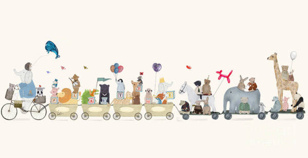 Wall Art - Painting - Big Playtime Parade by Bri Buckley