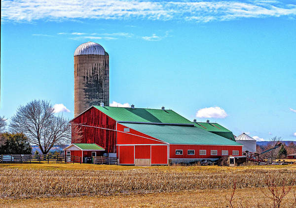 Wall Art - Photograph - Big Red Barn 3 by Steve Harrington