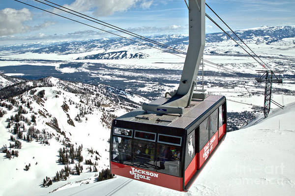Photograph - Big Red Jackson Hole Tram by Adam Jewell