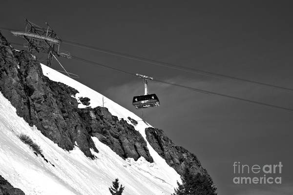 Photograph - Big Red Over The Cliff Black And White by Adam Jewell