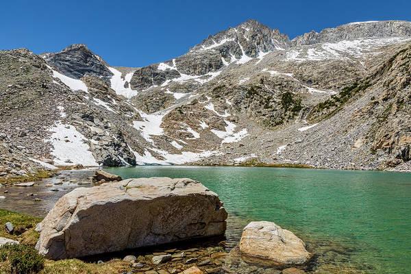 Turqoise Photograph - Big Rock At Treasure Lake by Kelley King