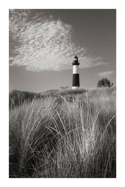 Wall Art - Photograph - Big Sable Point Lighthouse I Bw by Alan Majchrowicz