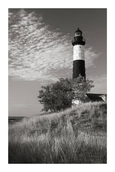 Wall Art - Photograph - Big Sable Point Lighthouse II Bw by Alan Majchrowicz