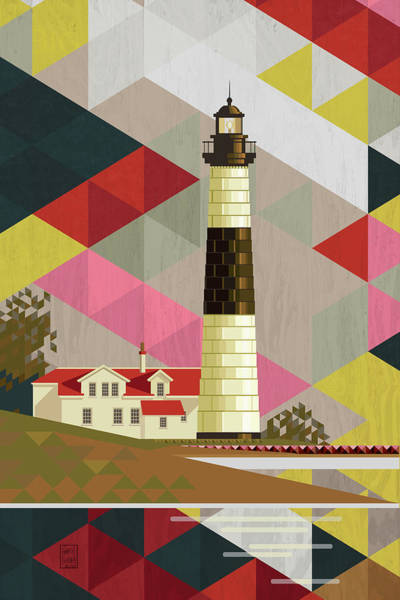 Holland Digital Art - Big Sable Point Lighthouse Michigan by Garth Glazier