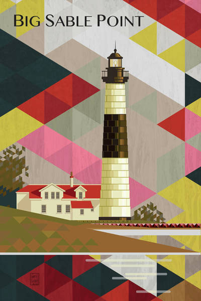 Lighthouses Digital Art - Big Sable Point Michigan by Garth Glazier