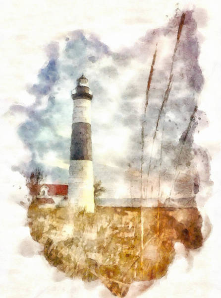 Painting - Big Sable Point Watercolor by Dan Sproul