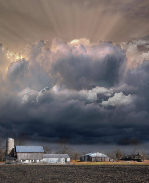 Photograph - Big Sky Michigan Farmland by Evie Carrier