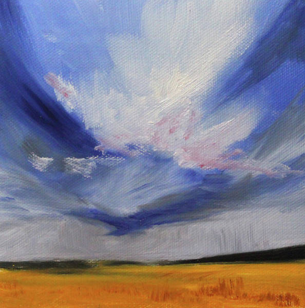 Wall Art - Painting - Big Sky by Nancy Merkle