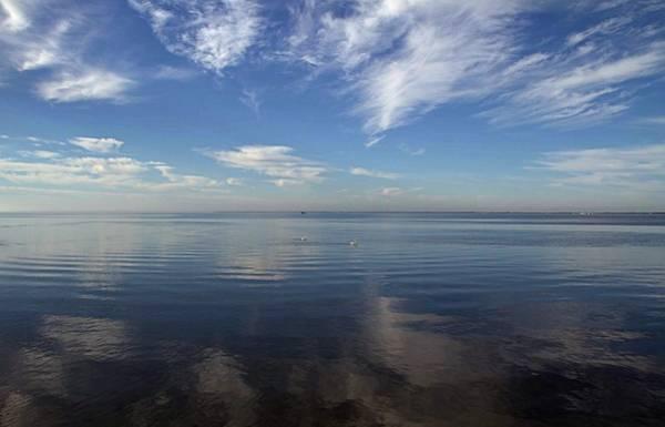 American White Pelican Wall Art - Photograph - Big Sky Over Aransas Bay by Zeesstof