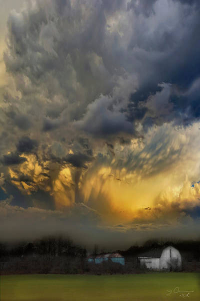 Photograph - Big Sky Yellow Light by Evie Carrier