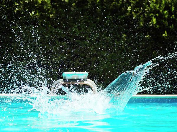 Diving Board Photograph - Big Splash In Swimming Pool by Henrik Sorensen