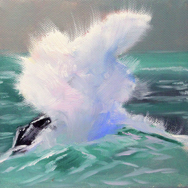 Wall Art - Painting - Big Splash by Nancy Merkle