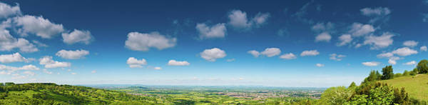 Wall Art - Photograph - Big Summer Sky Fluffy Clouds Green by Fotovoyager
