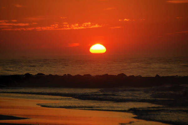 Photograph - Big Sun - Ocean City New Jersey by Bill Cannon