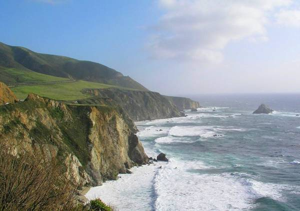 Big Sandy Photograph - Big Sur Coastline by Sandy L. Kirkner