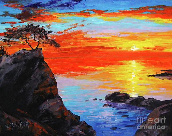 Sunrise Painting - Big Sur Sunset by Graham Gercken