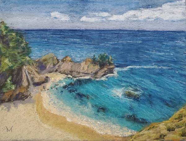 Pastel - Big Sur Waterfal by Maria Langgle