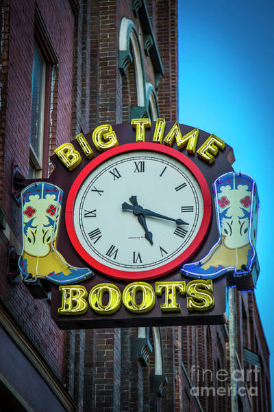 Wall Art - Photograph - Big Time Boots Broadway Neon Signage Nashville Tennessee Art by Reid Callaway