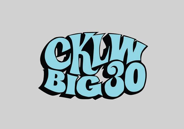 Digital Art - Big30 Logo - Sky Blue by Thomas Leparskas