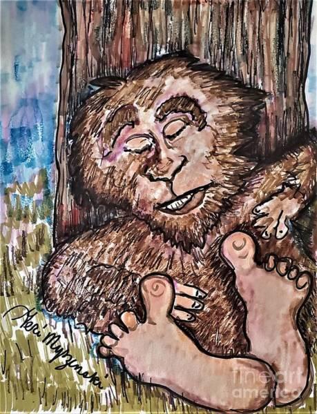 Wall Art - Mixed Media - Bigfoot by Geraldine Myszenski