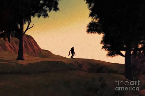Wall Art - Painting - Bigfoot Horizon by Sarah Kirk