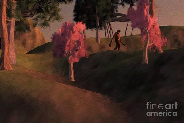 Wall Art - Painting - Bigfoot Wood by Sarah Kirk
