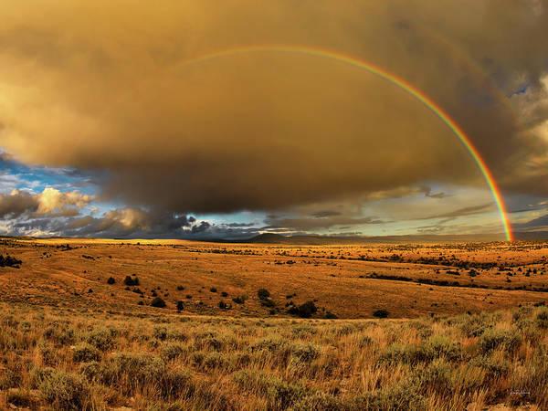 Photograph - Bighorn Basin Rainbow by Leland D Howard