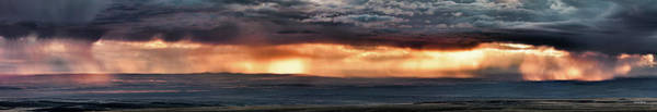 Photograph - Bighorn Basin Storm Panoramic by Leland D Howard