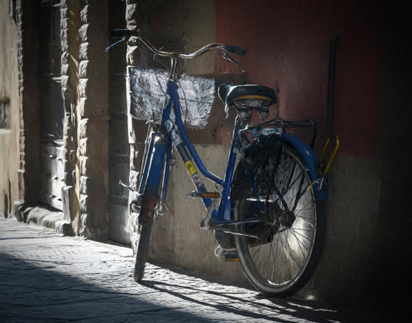 Wall Art - Photograph - Bike In Lucca Italy Painterly by Joan Carroll