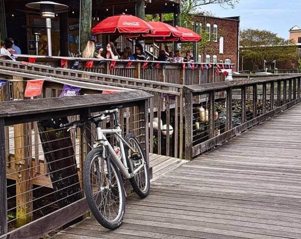 Wall Art - Photograph - Bike On The Boardwalk by Linda Brown