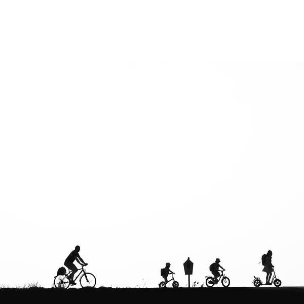 Wall Art - Photograph - Bike On The Dike Family With by Positiv Photography