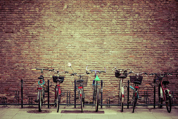Bicycle Photograph - Bike Parking In Bologna, Italy by Zodebala
