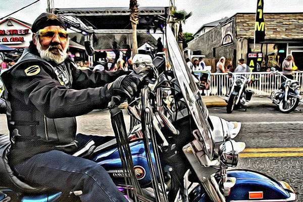 Photograph - Biker James by Alice Gipson
