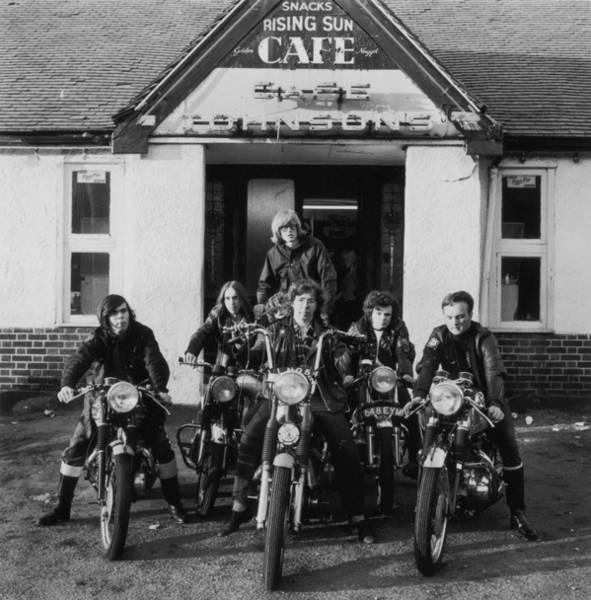 Wall Art - Photograph - Bikers Cafe by Evening Standard
