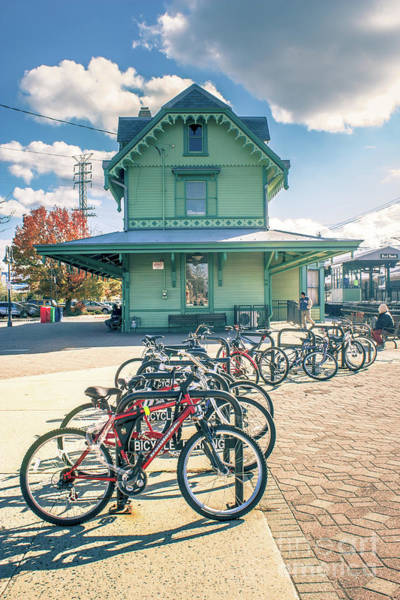 Wall Art - Photograph - Bikes At Red Bank Train Station by Colleen Kammerer