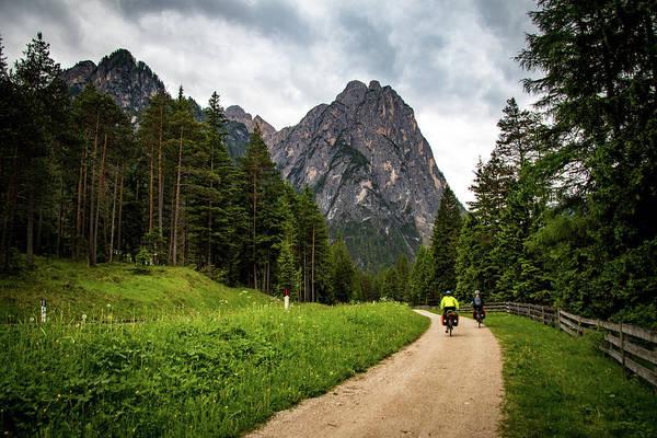 Wall Art - Photograph - Biking In The Dolomites by Shari Pederson