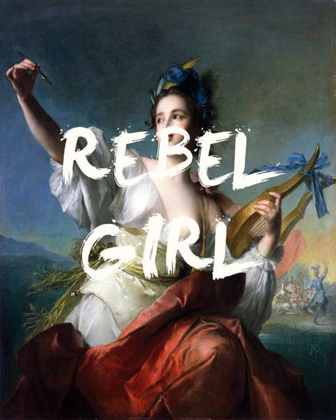 Digital Art - Bikini Kill Rebel Girl Print by Georgia Fowler