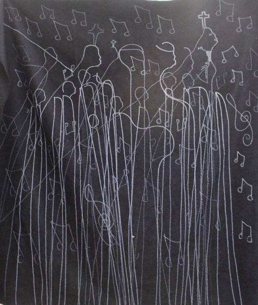 Painting - Bikira Maria Lord Of The Dance As Sung By Many A Choir by Gloria Ssali