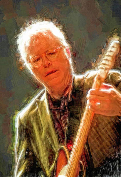 Wall Art - Mixed Media - Bill Frisell by Mal Bray
