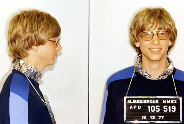 Wall Art - Photograph - Bill Gates Booking Photo 1977 by Daniel Hagerman