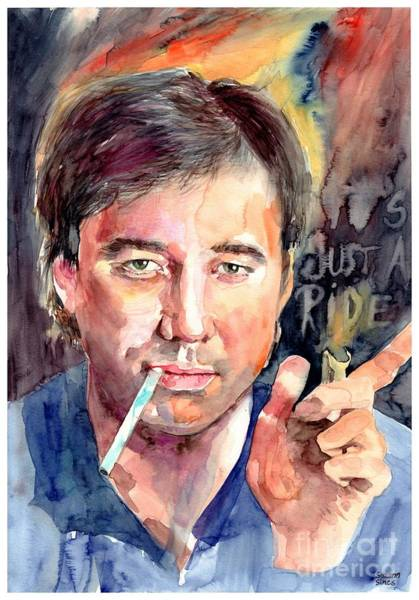 Wall Art - Painting - Bill Hicks Portrait by Suzann Sines