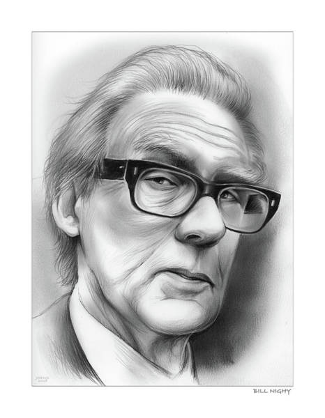 Television Drawing - Bill Nighy by Greg Joens