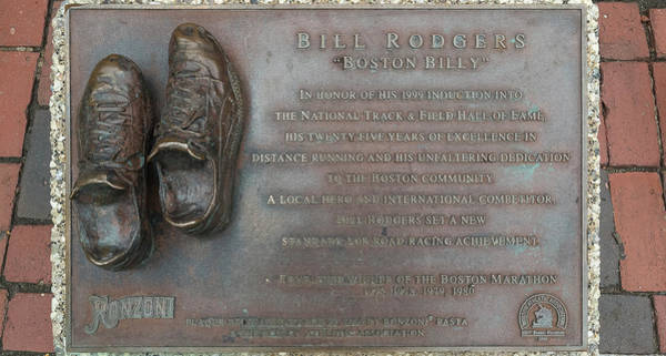 Wall Art - Photograph - Bill Rodgers Plaque, Faneuil Hall by Panoramic Images