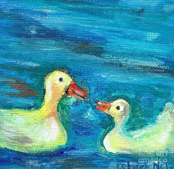 Painting - Bill Talk by Deborah Nell