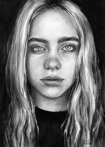 Wall Art - Painting - Billie Eilish by Olga Shvartsur