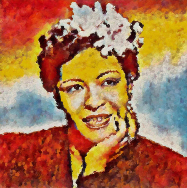 Wall Art - Painting - Billie Holiday Color by Dan Sproul